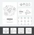 Christmas Business Set vector image vector image