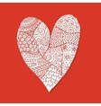 Love valentine heart sketch for your design vector image vector image