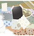 scrapbook template design vector image