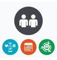 Friends sign icon Social media symbol vector image
