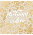 Autumn Vibes card vector image
