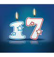Birthday candle number 17 vector image