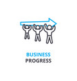business progress concept outline icon linear vector image