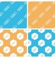 Paperclip pattern set colored vector image