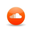 Soundcloud icon simple style vector image