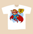 t-shirt print design superhero dad vector image