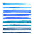 Watercolor stripes vector image