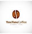 Ying Yang Coffee Grain Concept Symbol Icon or Logo vector image