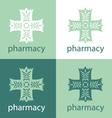Green medicine logo vector image vector image