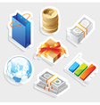 Sticker icon set for retail vector image vector image