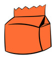 milk or juice carton package icon icon cartoon vector image