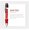 speech template with pen vector image vector image
