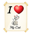 I love my cat vector image
