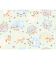 seamless pattern of cute sheep vector image
