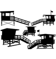 lifeguard tower vector image vector image