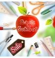 Back to school Sale EPS 10 vector image vector image