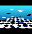 Abstract Flying Floor Background vector image