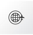 around globe icon symbol premium quality isolated vector image
