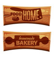 cartoon bakery labels vector image