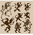heraldic animals vector image