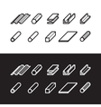 Metallurgy products icons set Metal vector image
