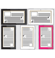 Tablets with status panels vector image