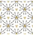 tribal pattern with gold stars seamless print vector image