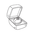 Wedding ring in a box vector image