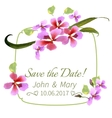 with orchid Watercolor Hand drawn vector image