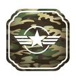 military star emblem isolated icon vector image