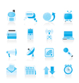 Communication and connection icons vector image vector image