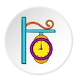 Street clock icon cartoon style vector image