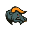 Bull mascot Emblem for sport team or club vector image