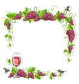 wine frame free vector image