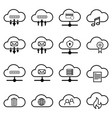 set with cloud icons simple cloud pictograms on a vector image