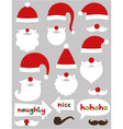 Christmas Santa Claus set vector image vector image