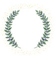 black olive branches wreath on a white background vector image
