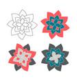 design abstract mandala sacred geometry vector image