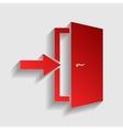 Door Exit sign vector image