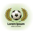 Football championship logo even vector image