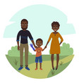 happy family with disabled girl couple and son vector image
