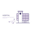 hospital medical treatment business concept vector image
