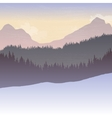mountain landscape with fir trees vector image