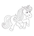 unicorn hand drawn linen for vector image