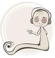 Cartoon of a cute ghost vector image vector image