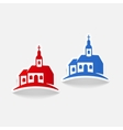 realistic design element church vector image