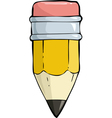 small pencil vector image