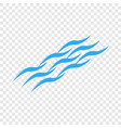 sea ripples isometric icon vector image