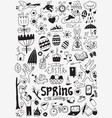 spring easter doodles vector image