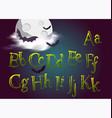 Halloween typeset spooky font for halloween vector image